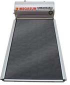 Ηλιακοί θερμοσίφωνες HELIOAKMI MEGASUN GLASS 120 λίτρα με 2,10 τμ συλλέκτη επιλεκτικό black selective